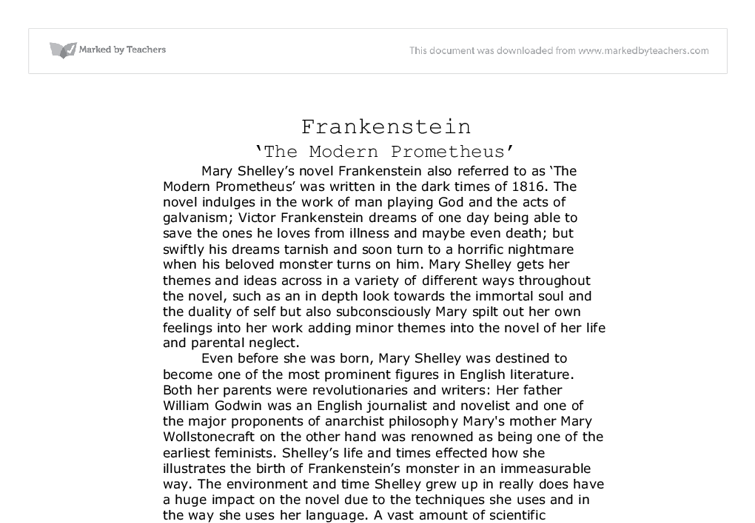 Write my frankenstein essay