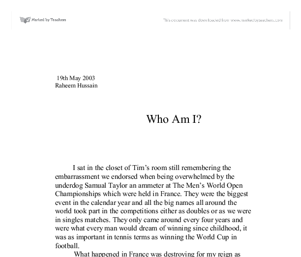 essay on who am i