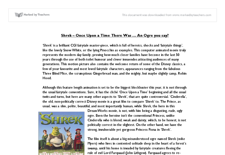 Shrek media coursework