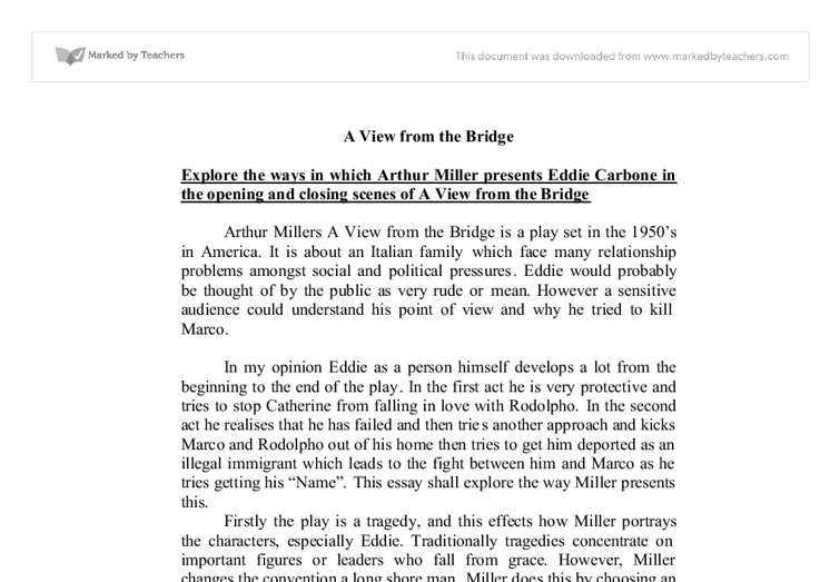 a view from the bridge gcse essays