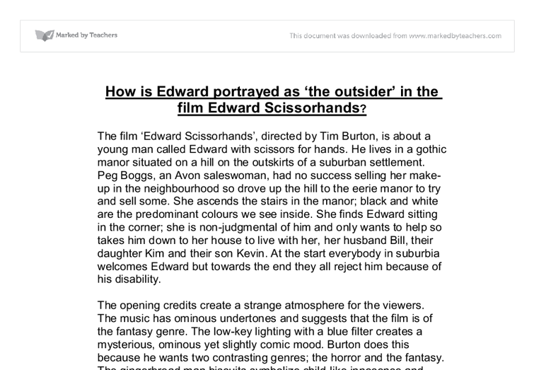 A written study of edward scissorhands essay