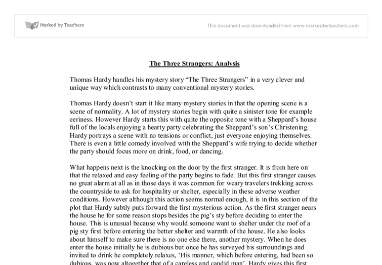 The stranger analysis essay