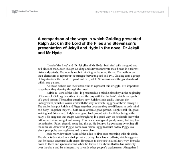 how is the theme of evil presented in lord of the flies? essay Lord of the flies study guide contains a biography of william golding, literature essays, quiz questions, major themes, characters, and a full summary and analysis.
