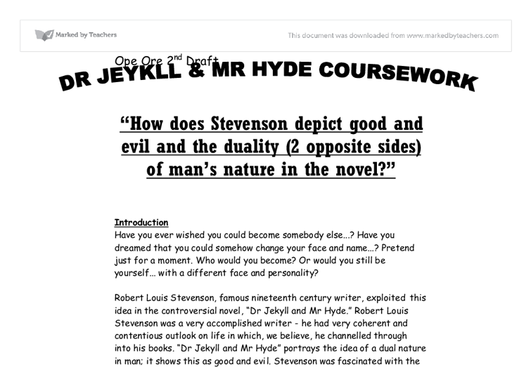 jekyll and hyde coursework Gcse 9-1 english language and literature  paper 3 poetry coursework  the strange case of dr jekyll and mr hyde was first published in 1886 and sold over 40.