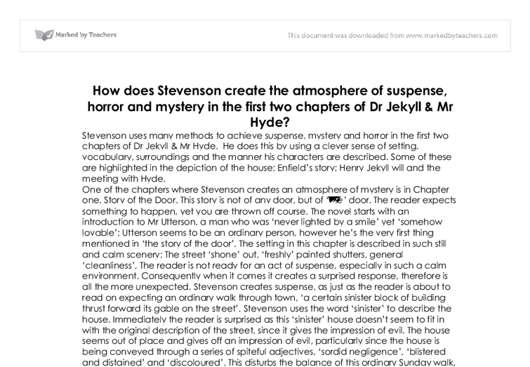 Suspense in jekyll and hyde essay