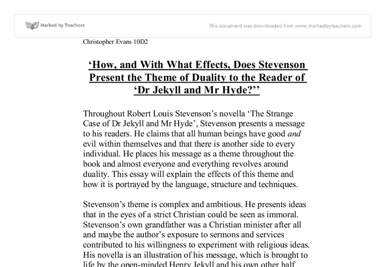 Critical Survey of Science Fiction and Fantasy The Strange Case of Dr. Jekyll and Mr. Hyde Analysis