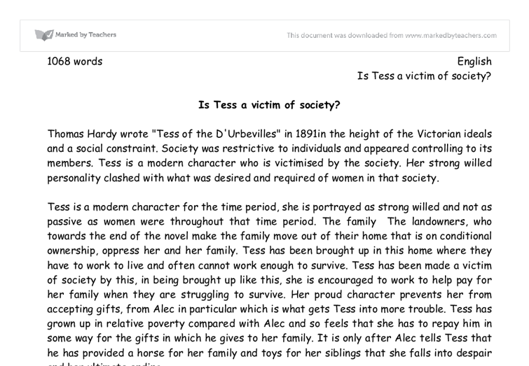 2011 form b ap essay tess of the d urbervilles Unspecified year: tess of the d'urbervilles july 28th, 2011 headsman on an unspecified july date in an unspecified late-19th century year, the title character of thomas hardy's tess of the d'urbervilles was hanged for murder.