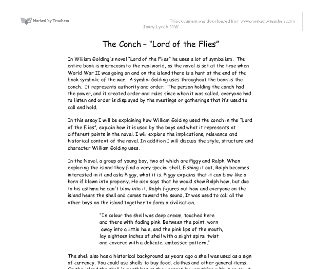 what is the importance of simon in the lord of the flies essay Free essay on lord of the flies - character analysis available totally free at echeatcom, the largest free essay community.