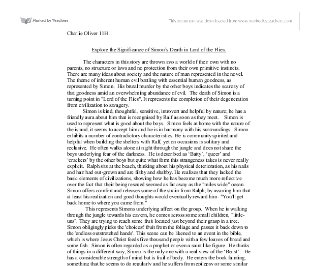 William golding research paper essay example