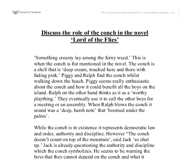lord of the flies symbolism essay introduction