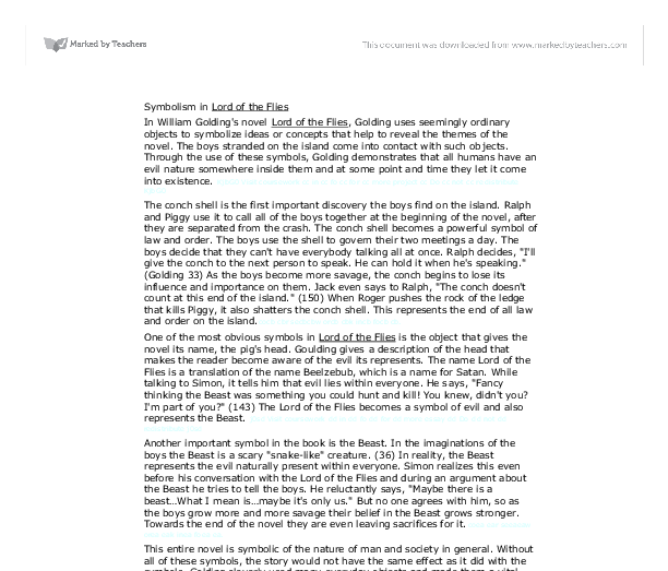 gcse english lord of the flies essay Gcse english literature revision section showing an example essay written for lord of the flies.