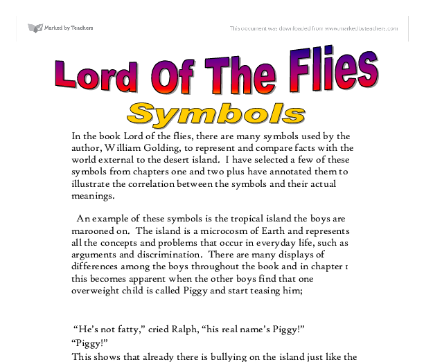 Literary Analysis of Lord of the Flies