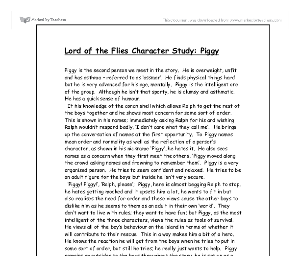 Essay: Symbolism in the Lord of the Flies