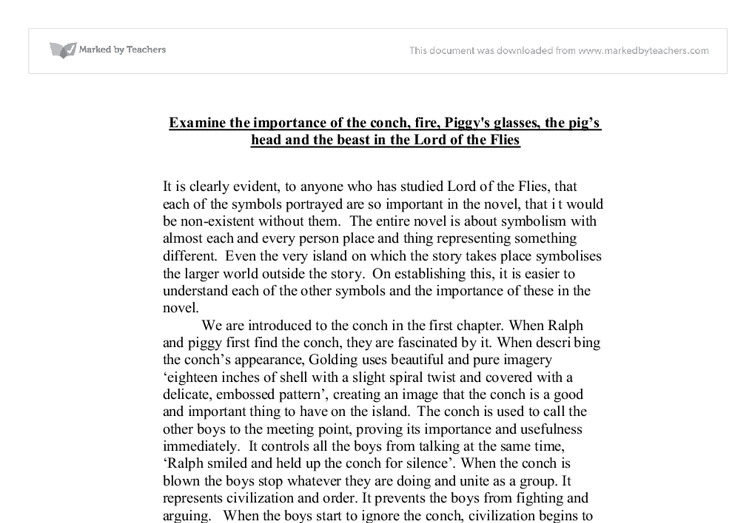 importance of the beast in lord of the flies essay