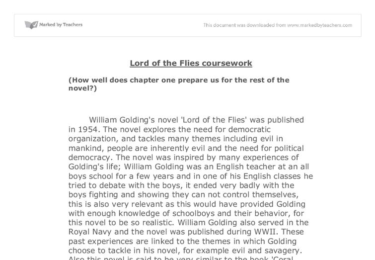 how does the opening prepare the reader for the rest of the novel lord of the flies? essay Online essay help how ralph is shown as a good leader in the novel lord of the flies  in william golding's novel lord of  the  to conclude that ralph is.