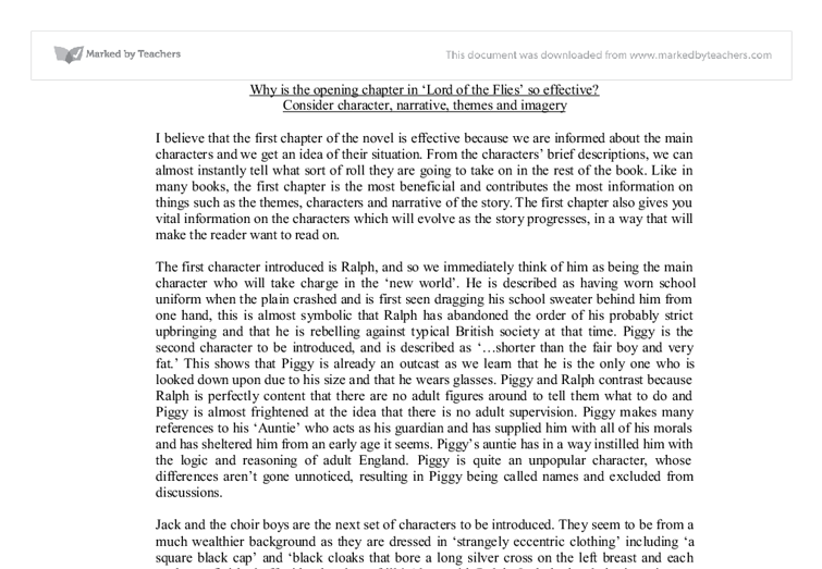 lord of the flies spoof essay