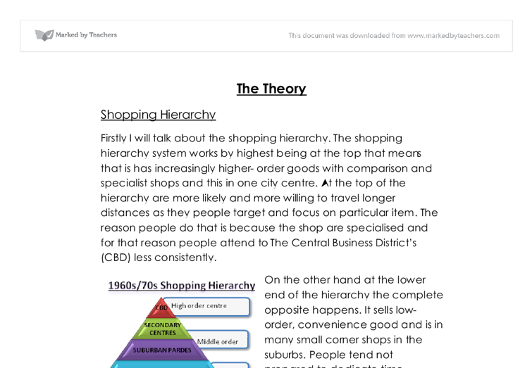 gcse geography coursework shopping hierarchy Scheme of work geography revised gcse this is an exemplar scheme of work which supports the teaching and learning of the geography specification this is a suitable topic for a fieldwork investigation – a list of outdoor education school, local shop or nearest shopping centre geoactive 344.