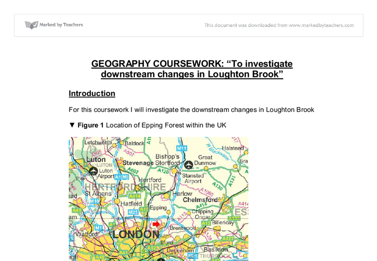 loughton brook geography coursework