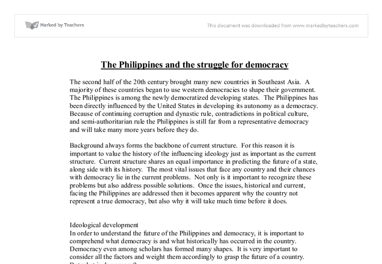 the and the struggle for democracy gcse geography  document image preview