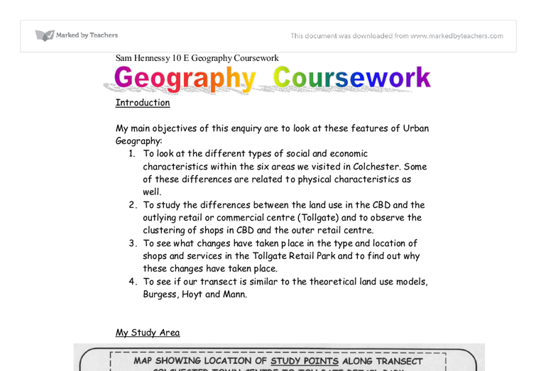 Geography research paper