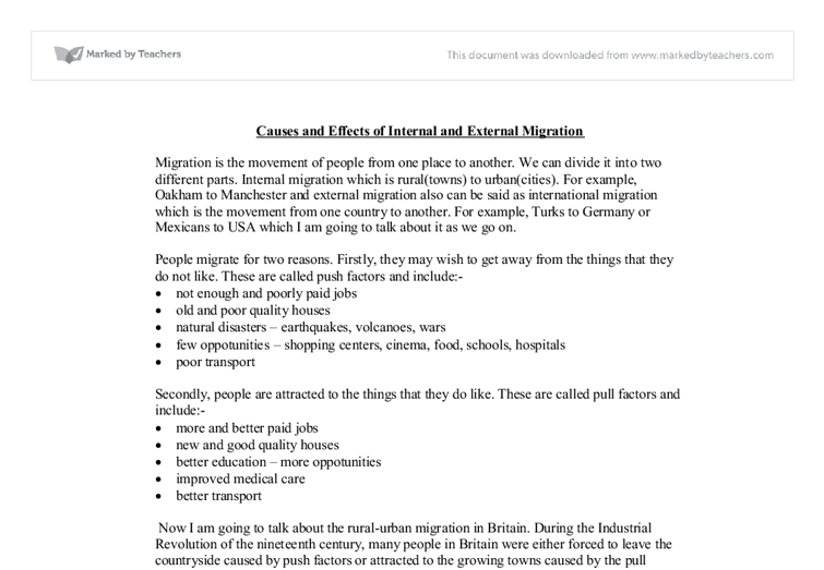 Examples of cause and effect essays