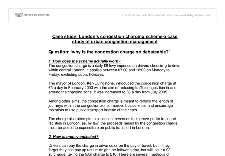 case study londons congestion charging scheme a case study of  document image preview