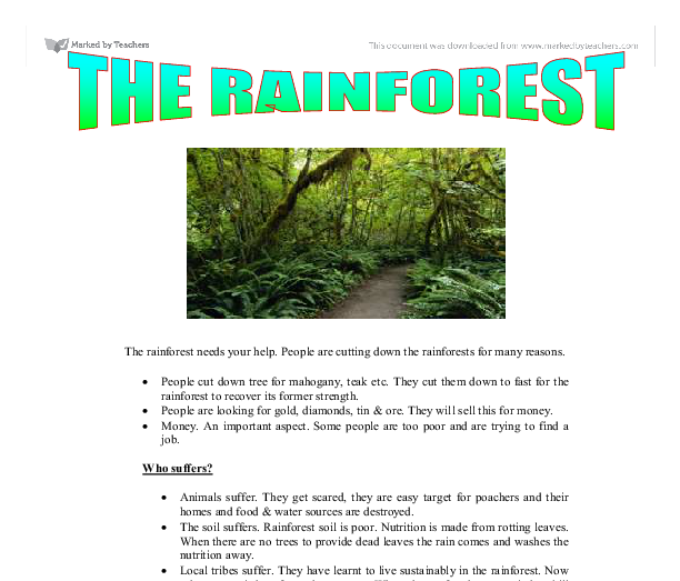 rainforest depletion caused by logging thesis statement Human are destroying the earth's tropical rainforests thesis statement:many causes and effects of the rainforest destruction topic sentence: -logging is one of the causes of the rainforest's destruction the causes and effects of rain forest destruction.