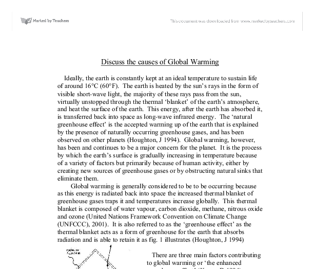 The global systems effect on climates essay