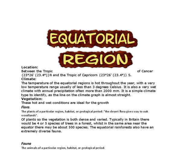 What Are the Equatorial Region Countries?