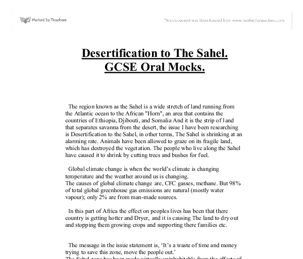 desertification real essay