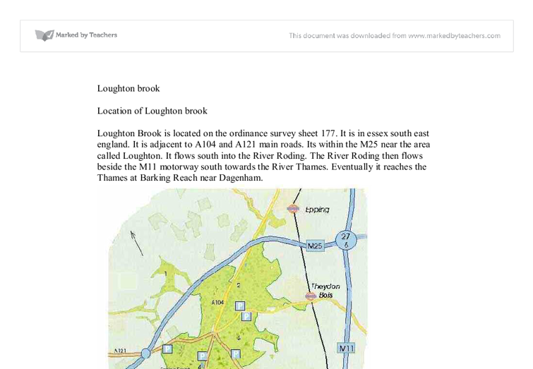 gcse geography coursework loughton brook