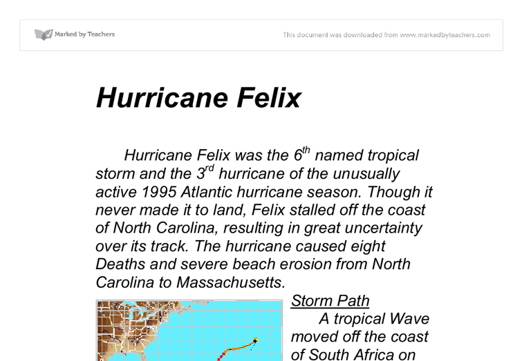 hurrican essay Hurricane sandy cause and effect essay, cause and effect, to write a cause and effect essay, youll need to determine a scenario in which one action or event caused certain effects to occur.