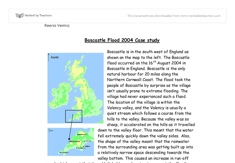 geography boscastle case study