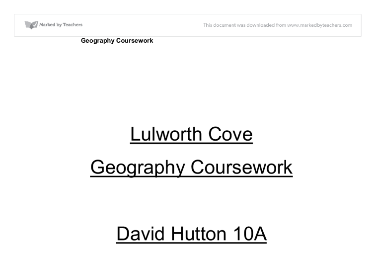 geography research paper format