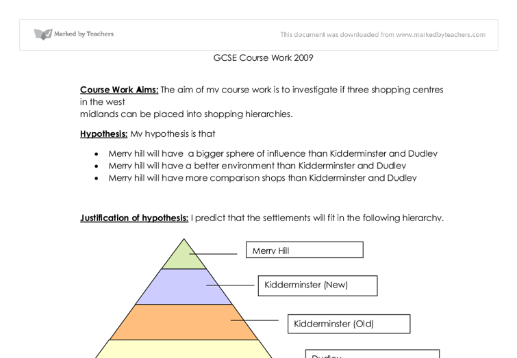 write hypothesis geography coursework Welcome to st ivo school gcse geography coursework aims and hypothesis of the project and here – the full mark scheme is available in the.