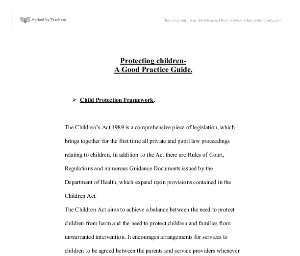 Timeline: a history of child protection