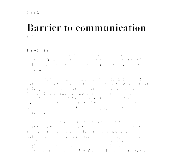 Interpersonal Communication Paper