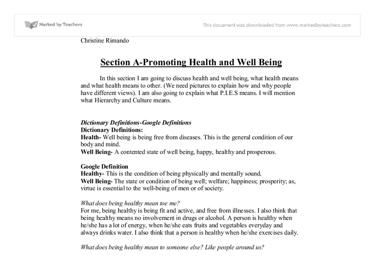 health and social care unit section a gcse health and social  document image preview