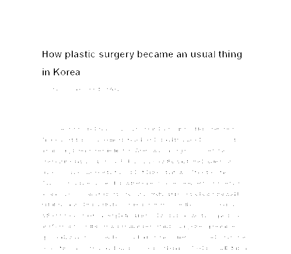 history of plastic surgery how plastic surgery became a usual  document image preview