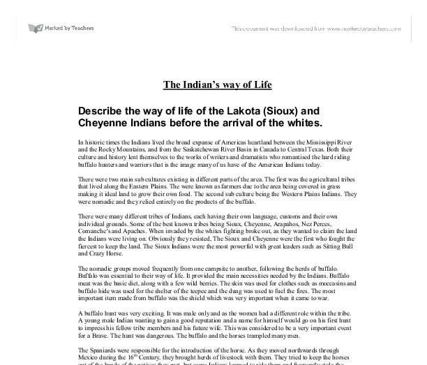 Describe the way of life of the Lakota (Sioux) and Cheyenne