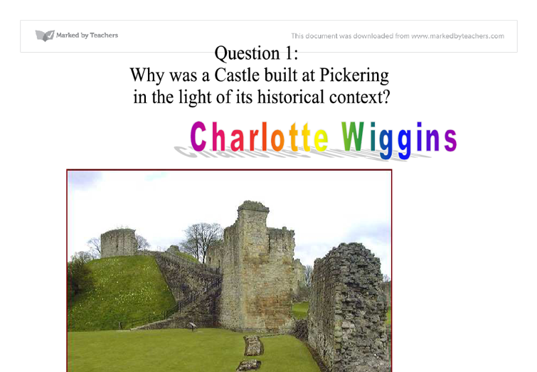 Castle essay introduction