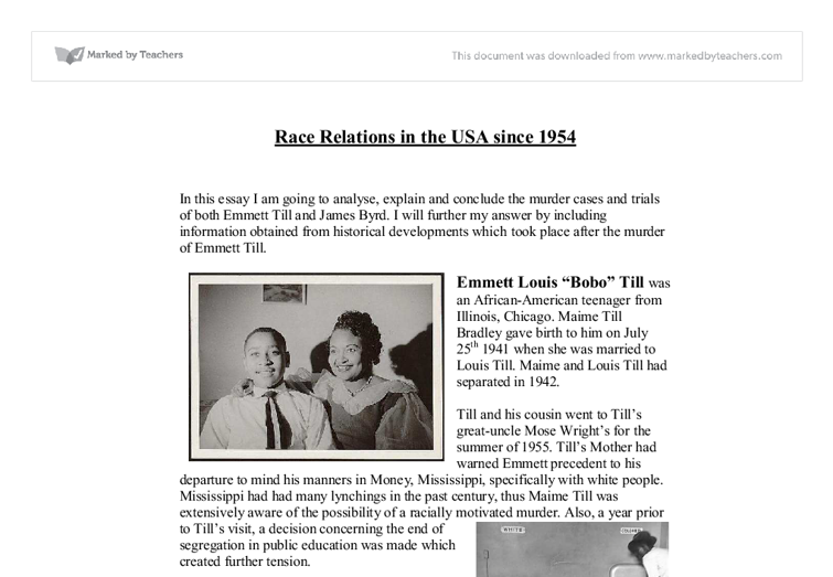 race relations in the us since gcse history marked by  document image preview