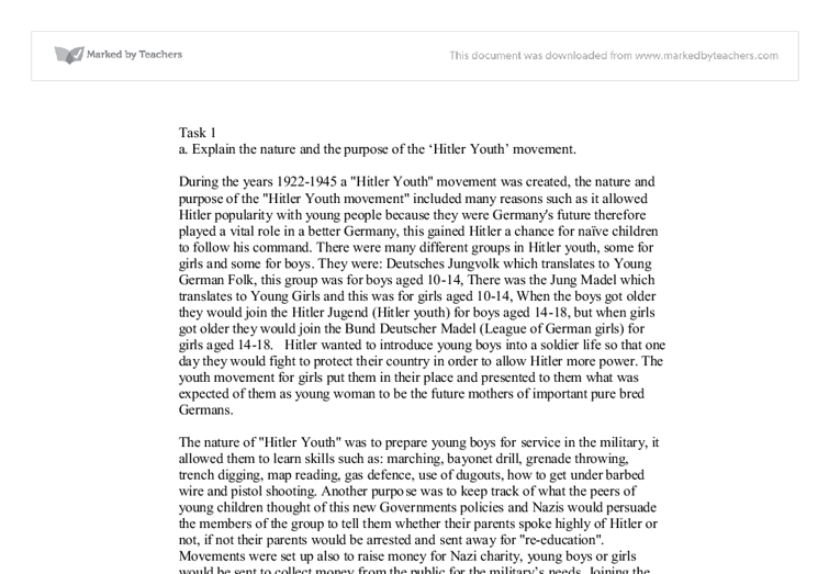 Hitler youth essay
