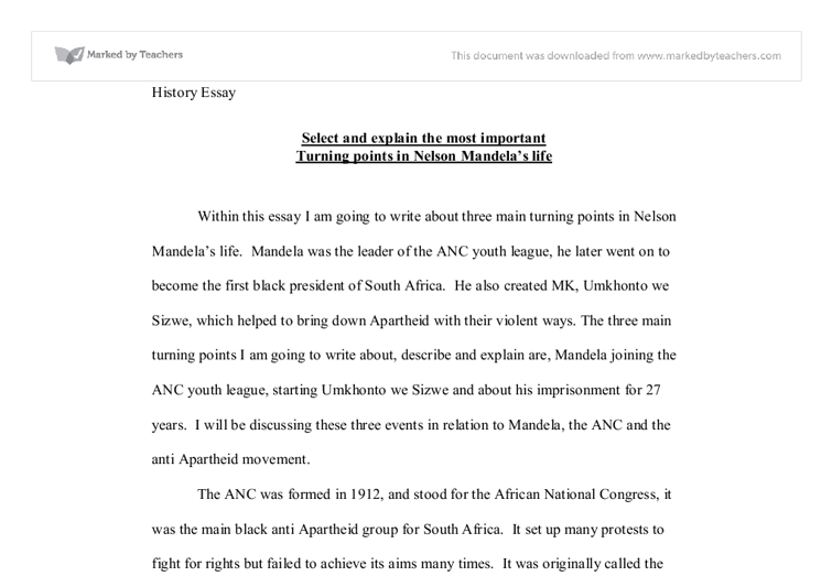 nelson mandela in this essay i am going to write about three  document image preview