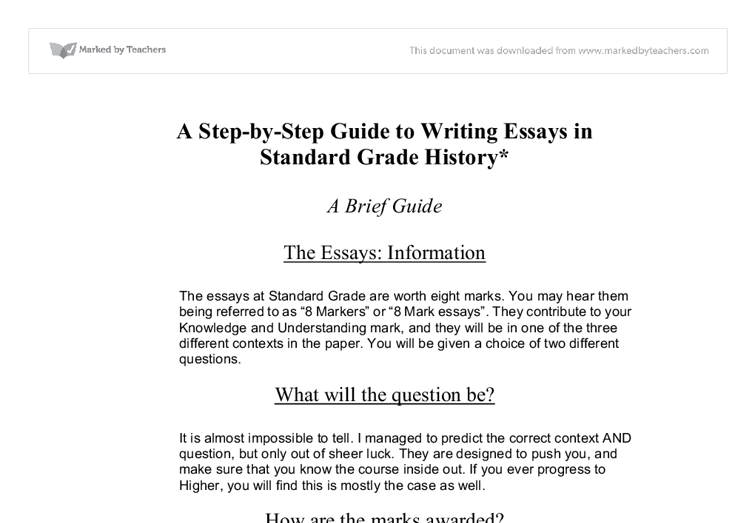 How to start an essay for history
