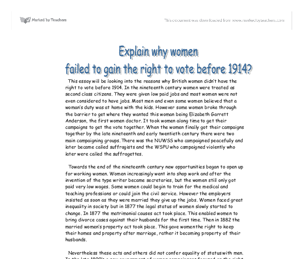explain why women failed to gain Why did it fail to satisfy religious desires of many  how and why did the status of women in colonial america differ from region to region  describe the .