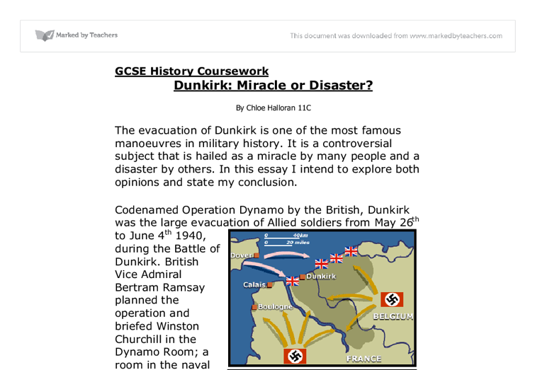 dunkirk disaster or triumph essay Was the evacuation of dunkirk at triumph or disaster for the british who would say dunkirk evacuation was a disaster/triumph more questions.