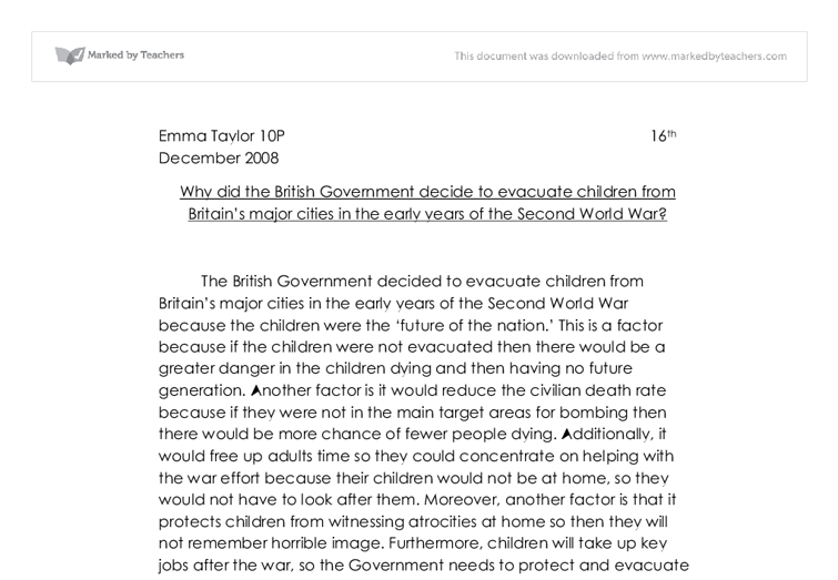 Why the british government decided to