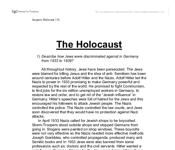 "a teachers guide to the holocaust essay A teacher's guide to the holocaust: the website allows teachers to view the holocaust through three different ""lenses""—timeline, people, and the arts."