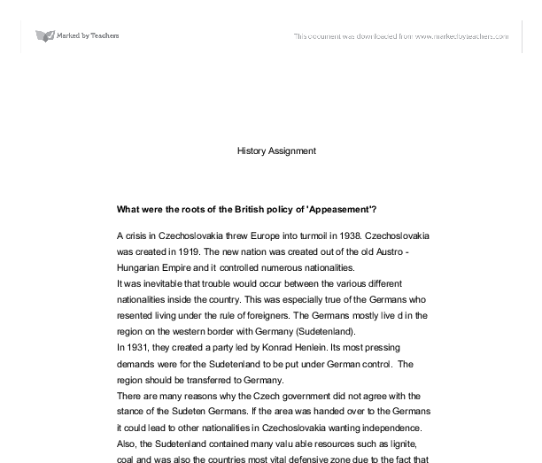 policy of appeasement good or bad essay This agreement was known as the appeasement many people saw this as a good essay on appeasement adolf hitler dies adolf was a bad jib=in chcooki.